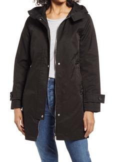 Sam Edelman Cotton Blend Hooded Swing Coat