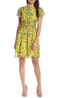 Sam Edelman Floral Crossover Waist A-Line Dress