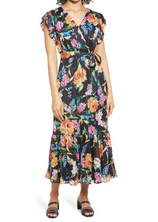 Sam Edelman Floral Print Faux Wrap Dress