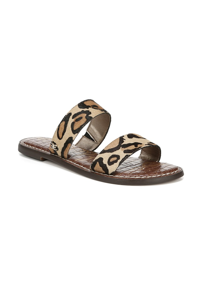 Sam Edelman Gala Two Strap Genuine Calf Hair Slide Sandal (Women)