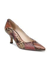 Sam Edelman Julianne Snake Embossed Pointed Toe Pump (Women)