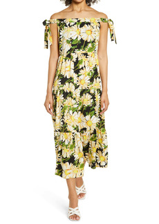Sam Edelman Off the Shoulder Floral Print A-Line Dress