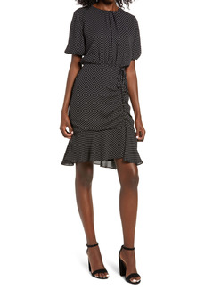 Sam Edelman Ruched Polka Dot Dress