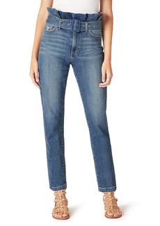 Sam Edelman The Dani Distressed Paperbag High Waist Straight Leg Jeans (Kalina)