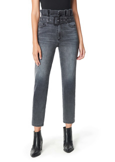 Sam Edelman The Dani Paperbag Straight Leg Ankle Jeans (Woods)