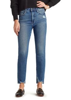 Sam Edelman The Stiletto Distressed Hem High Waist Straight Leg Jeans (Kamella)