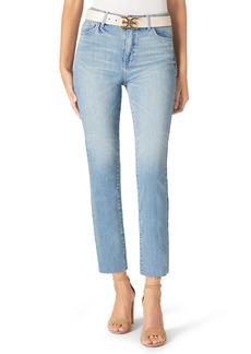 Sam Edelman The Stiletto High Waist Raw Hem Crop Straight Leg Jeans (Melanie)