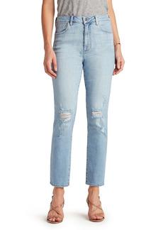 Sam Edelman The Stiletto Ripped Straight Leg Ankle Jeans (Jena)