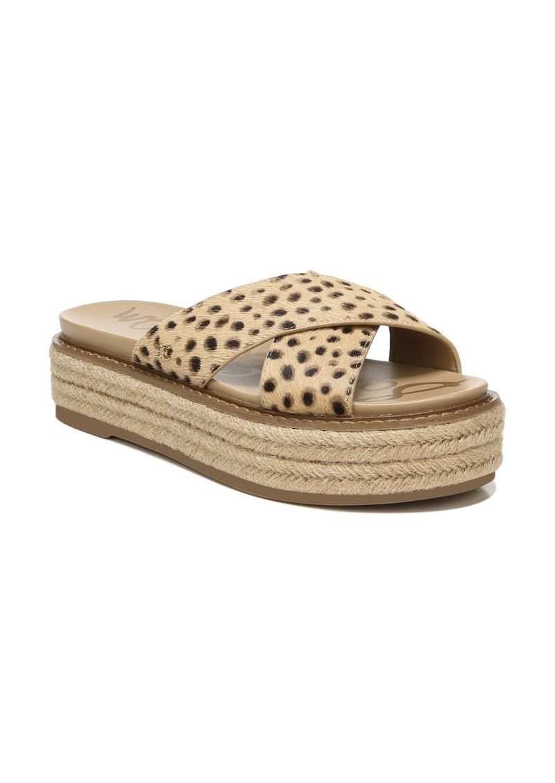 Women's Sam Edelman Korina Genuine Calf Hair Platform Slide Sandal