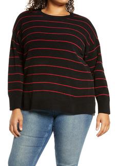 Sanctuary Everyday Stripe Tunic Sweater (Plus Size)