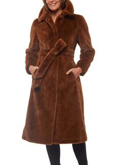 Sanctuary Faux Fur Belted Coat