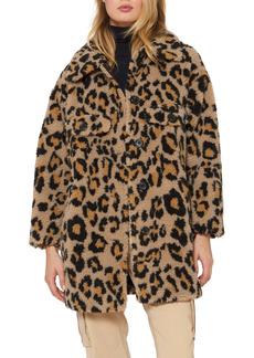 Sanctuary Leopard Print Faux Shearling Coat