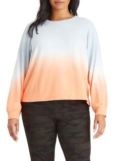 Sanctuary Ombré Raglan Sweatshirt (Plus Size)