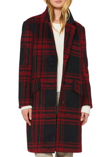 Sanctuary Wool Blend Plaid Coat