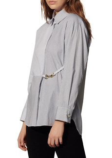 Sandro Maddly Belted Stripe Shirt