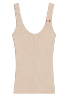 sandro Ring Detail Rib Tank