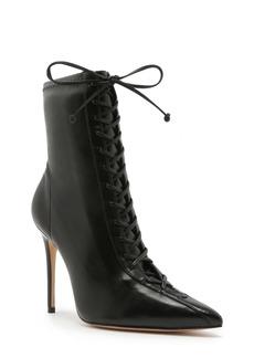 Schutz Tennie Pointed Toe Lace-Up Boot (Women)