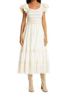 Women's Sea Everleigh Eyelet Smocked Midi Dress