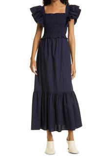 Women's Sea Gladys Smocked Flutter Sleeve Maxi Dress