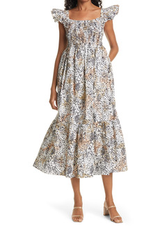 Women's Sea Lana Leopard Print Smocked Midi Dress