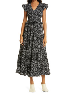 Women's Sea Thandi Abstract Print Smock Bodice Dress