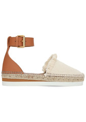 See by Chloé 25mm Glyn Leather & Cotton Espadrilles
