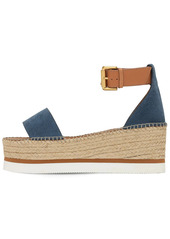 See by Chloé 80mm Glyn Leather Wedges