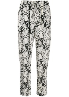 See by Chloé abstract print tapered trousers
