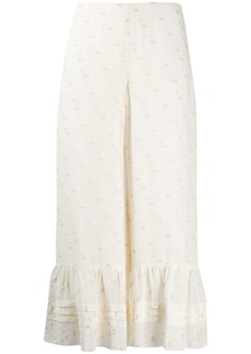 See by Chloé embroidered cropped trousers