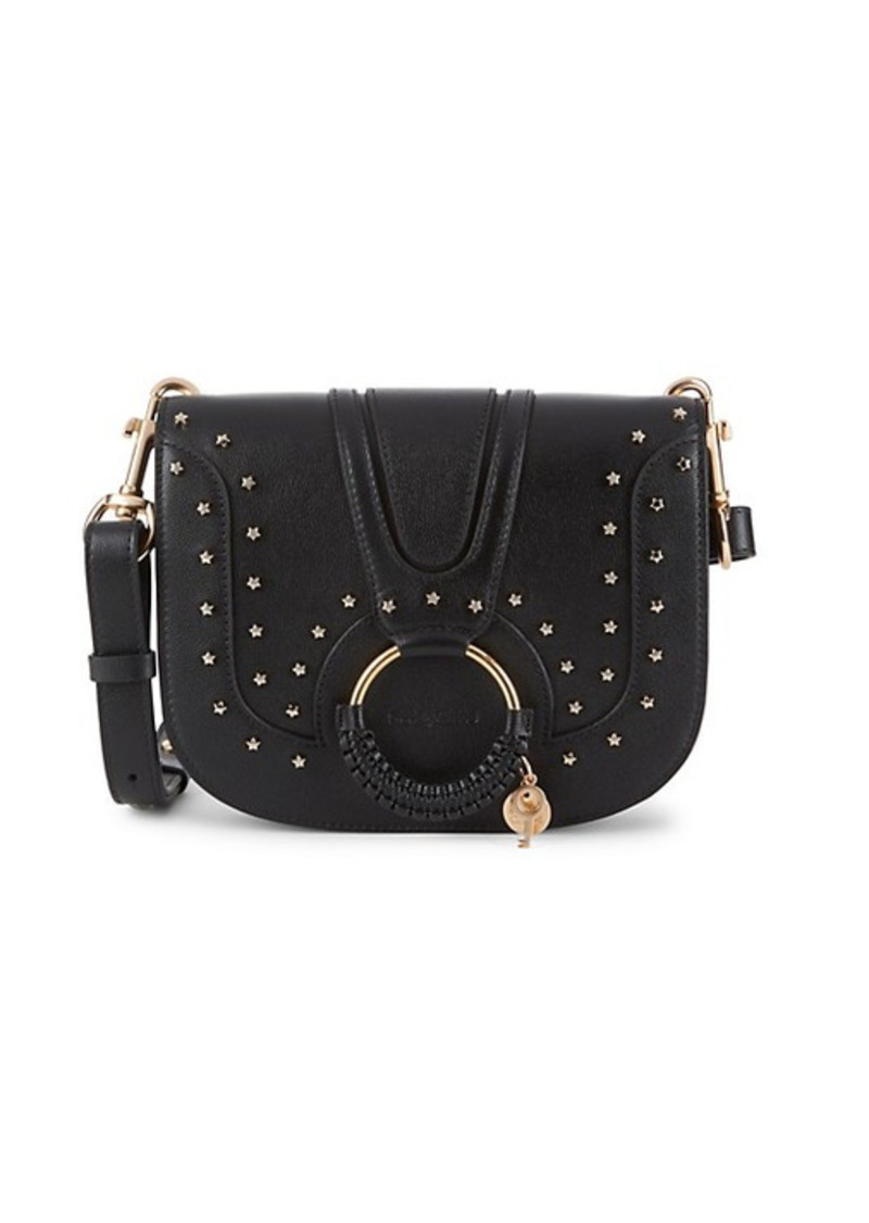 See by Chloé Hana Star-Studded Leather Saddle Bag