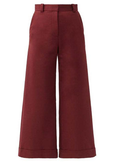 See By Chloé High-rise cotton-blend culottes