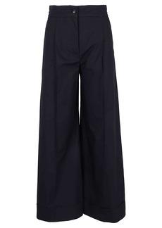 See by Chloé Lattice Cotton Poplin Trousers