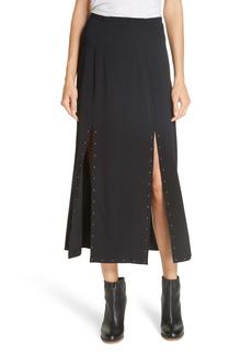 See by Chloé Studded Slit Detail Midi Skirt