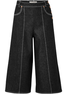 See By Chloé Woman Button-detailed Denim Culottes Black