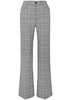 See By Chloé Woman Prince Of Wales Checked Tweed Bootcut Pants Black