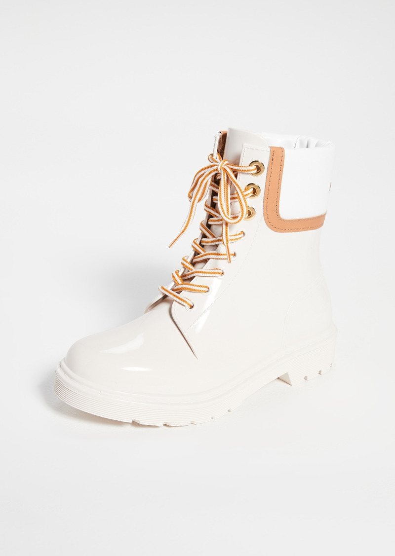 See by Chloé See by Chloe Florrie Lace Up Rain Boots