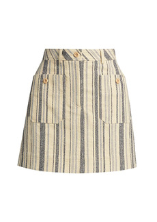 See by Chloé Striped Cotton Canvas Skirt