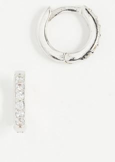 Shashi Katerina Pave Hoop Earrings