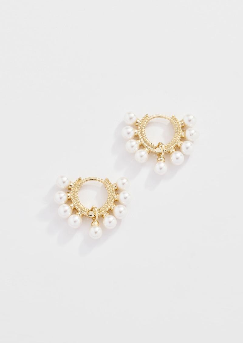Shashi Lola Pearl Huggie Earrings