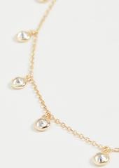 Shashi Solitaire Drop Choker Necklace