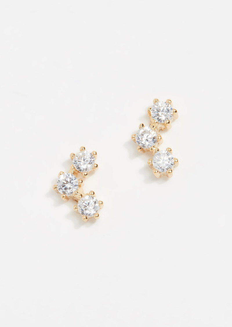 SHASHI Trinity Stud Earrings