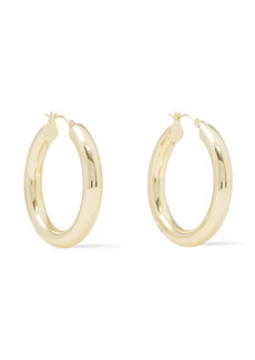 Shashi Woman Dominique 18-karat Gold-plated Hoop Earrings Gold