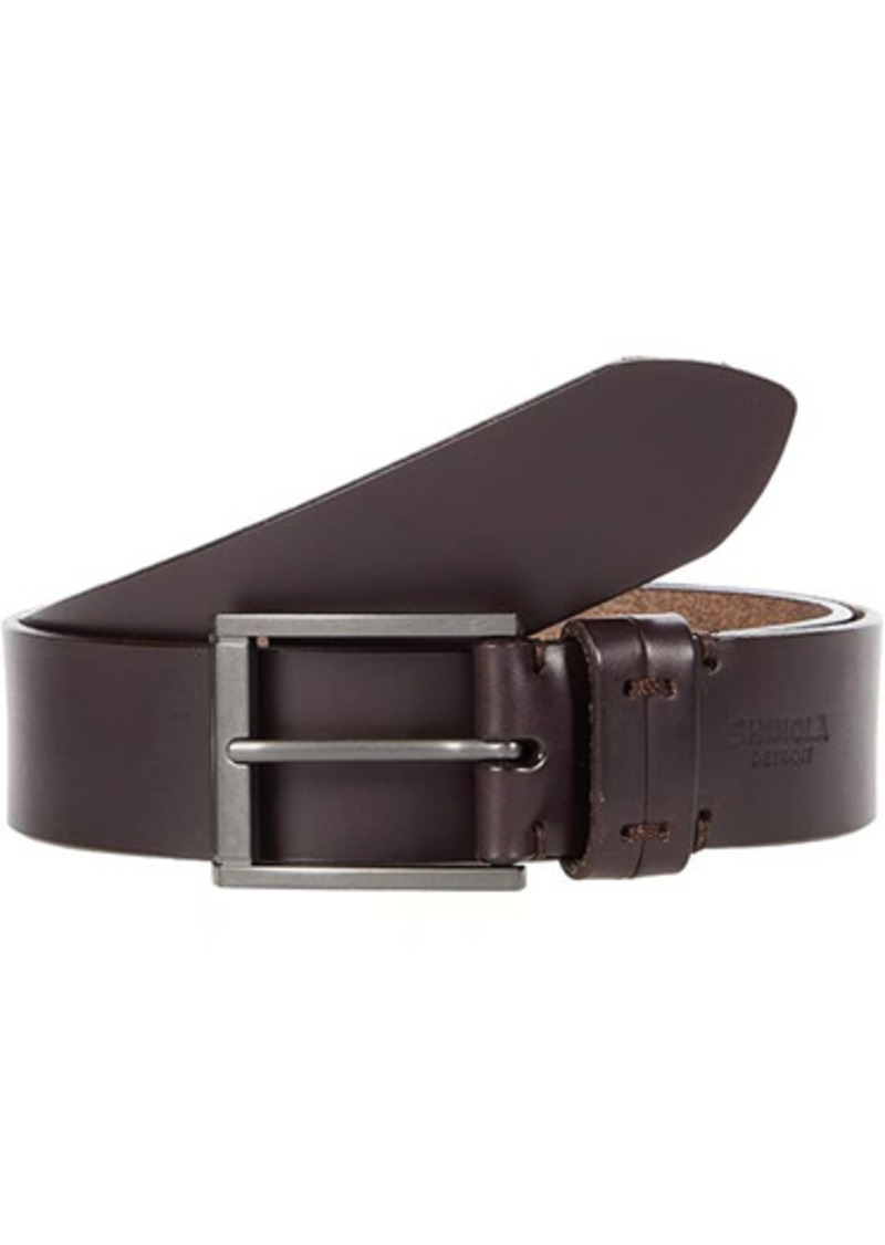 "Shinola 1 1/2"" Double Keeper Belt"