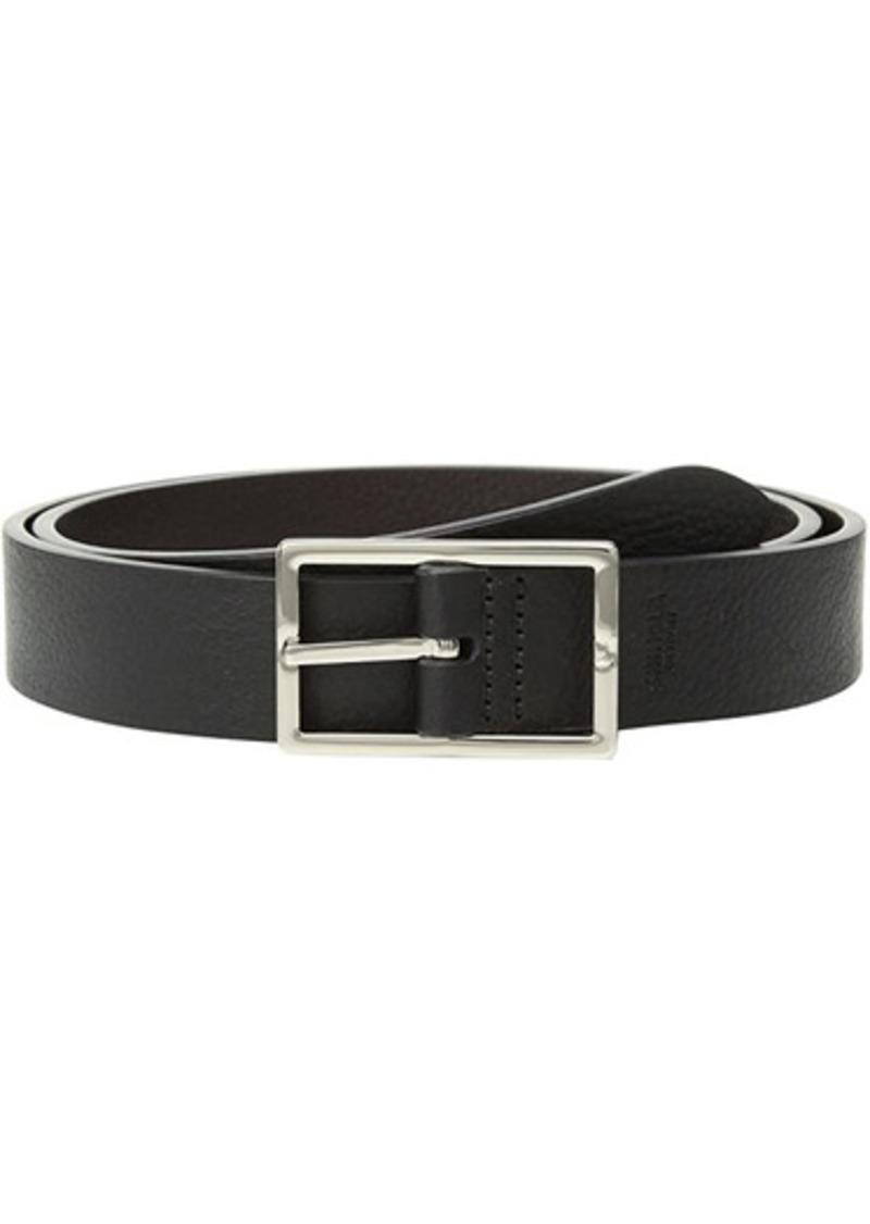 "Shinola 1 1/4"" Reversible Rectangle Buckle Belt SS"