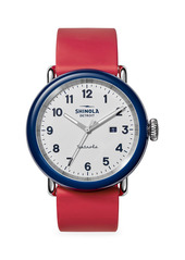 Shinola Detrola The Ace Stainless Steel & Silicone Strap Watch