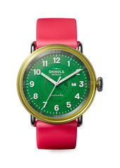 Shinola Detrola The Gummy Worm Resin & Stainless Steel Silicone Strap Watch