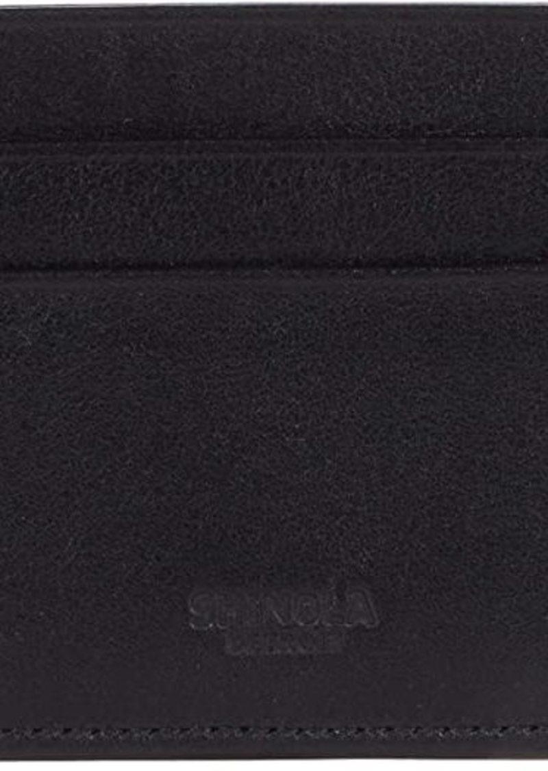 Shinola Five-Pocket Card Case w/ Bolt Smooth Grain Leather