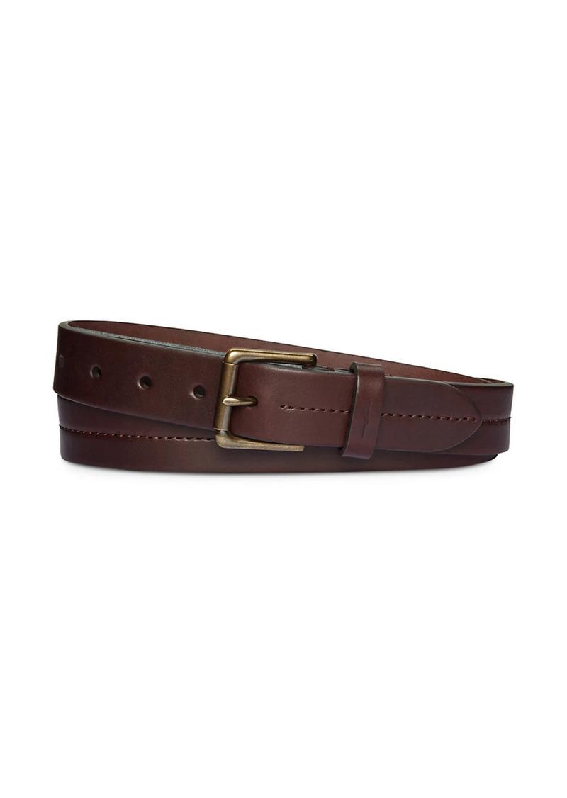 Shinola Leather Center Stitch Roller Belt