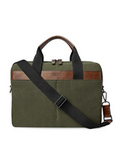 Shinola Mack Brief Waxed Canvas Briefcase