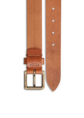 Shinola Metallic Buckle Leather Belt